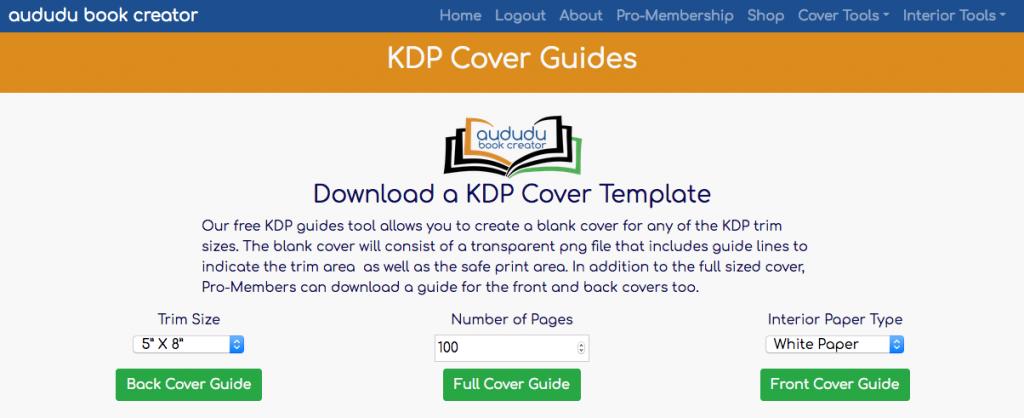 KDP Cover Guide Tool – Free Tool – Aududu Book Creator Blog